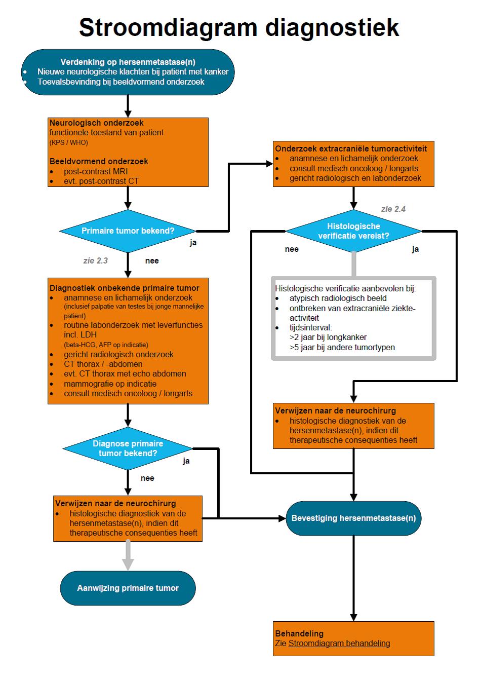 Hersenmetastasen - Diagnostiek Stroomdiagram - Richtlijn ...
